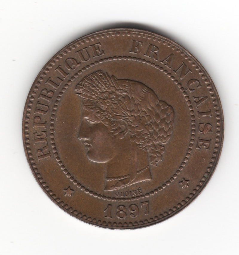 5 Céntimes. Francia. 1897. París Img58910