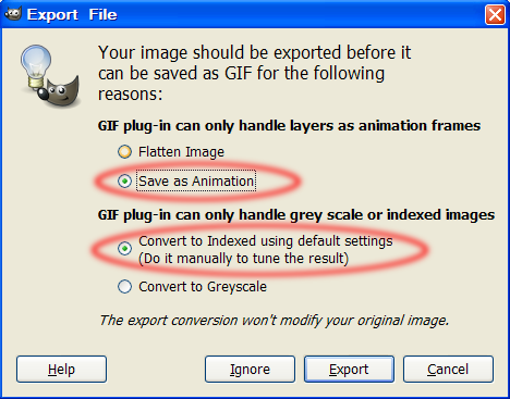 [The Gimp] Making a flashing button T-510