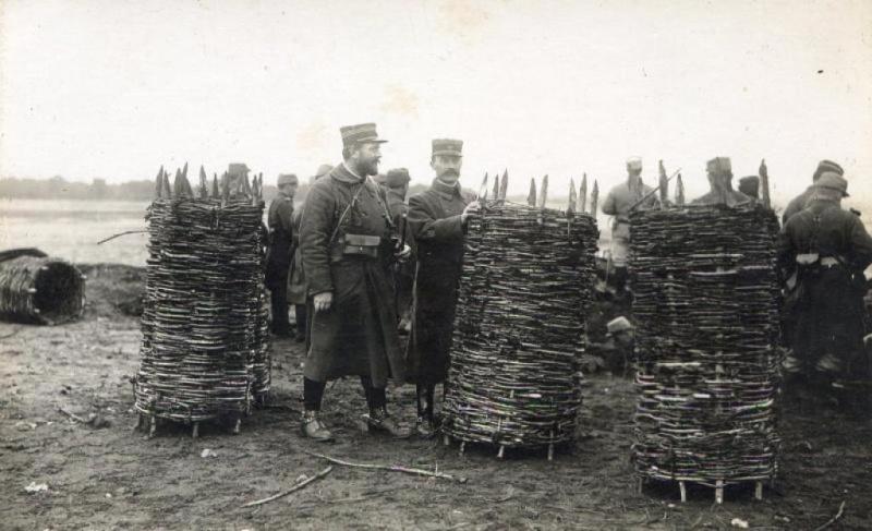 gabions / pavois osier /  mantelets / tonneaux / protections de campement 1915610
