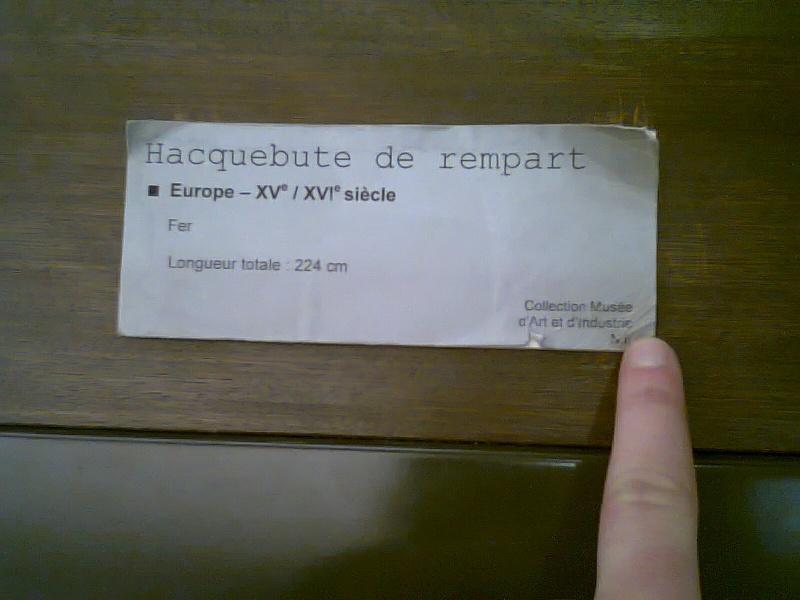 [artefact] hacquebute de rempart  Photo114