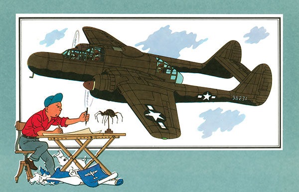 """Northrop P-61A s.n 425526 """"Mightie Mission"""" du 6th NFS - Saipan - été 44 (hobby boss 1/48) 045_av10"""