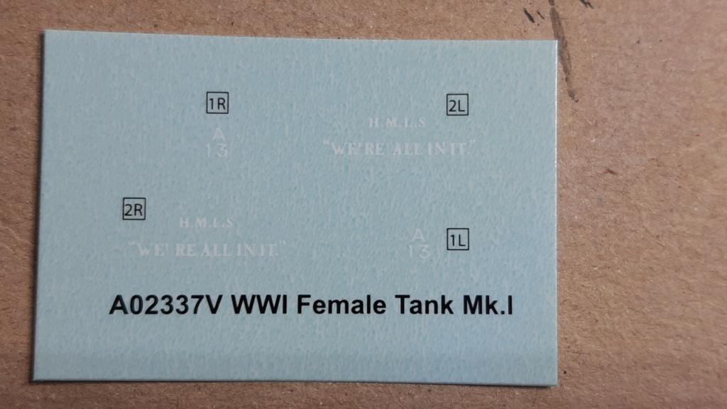 Fil rouge 2021 * Tank Mark II (T.S.F) Airfix 1/76° *** Terminé en pg 5 G12