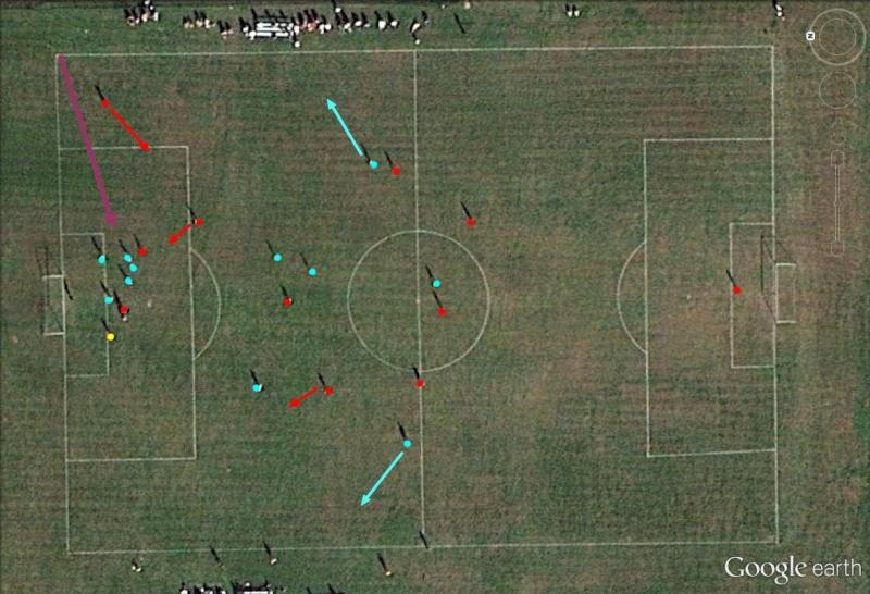Stratégie sportive vue depuis les airs Foot_d12