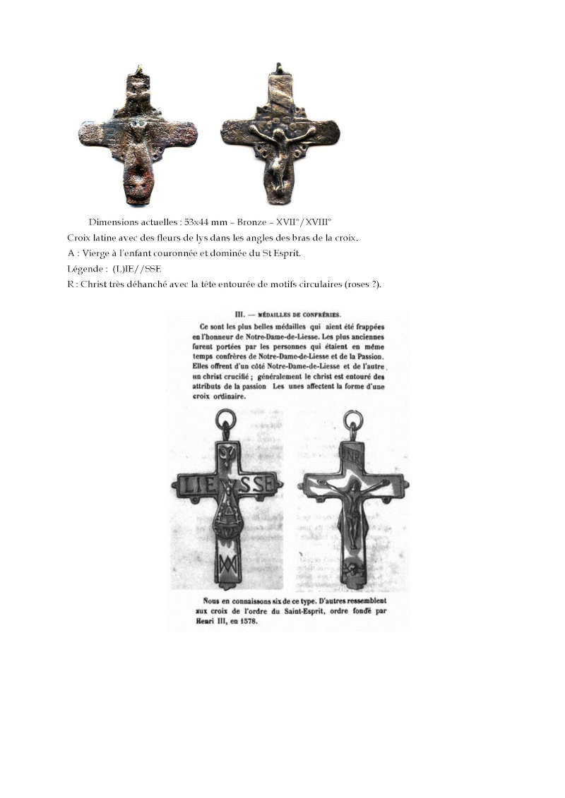 Crucifijo bifaz con pezuelos Ntra. Sra. de  Liesse S-XVII - CC-062 - [Pec030/S-XVII]* Les_cr12