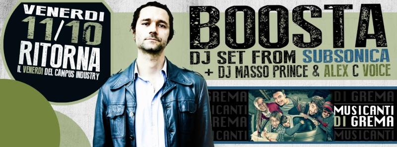 Venerdì 11.10 @Campus industry - Special DJ Set BOOSTA (Subsonica) Copert11