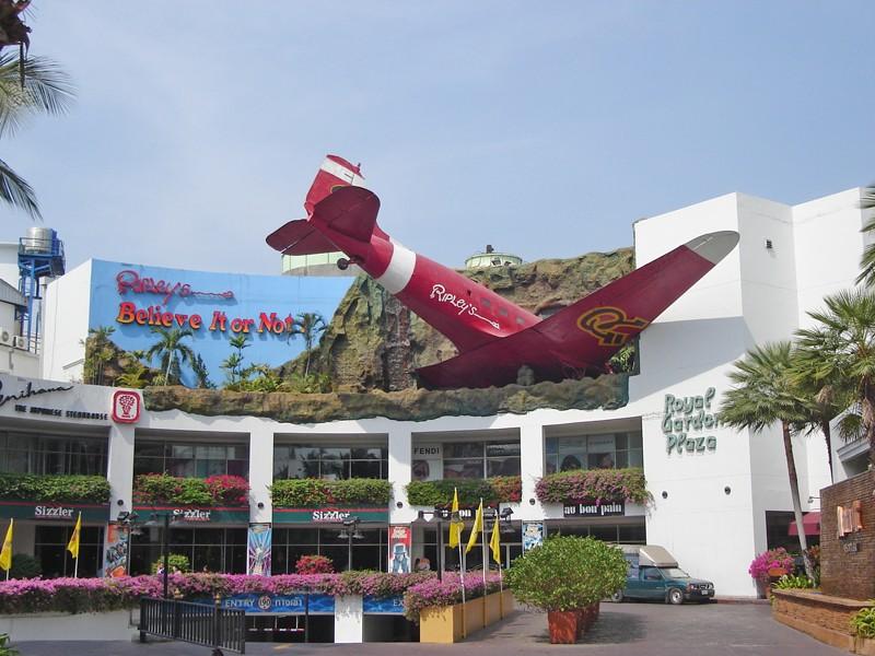 Un avion dans la façade - Pattaya - Thailande Royal_10
