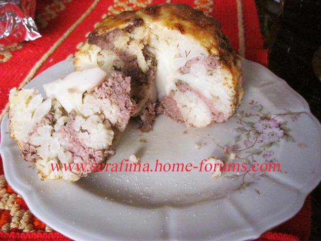 Запеченая цветная капуста, фаршированная мясным фаршем Img_0310