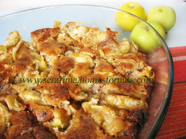 Шарлотка с яблоками Img_0313