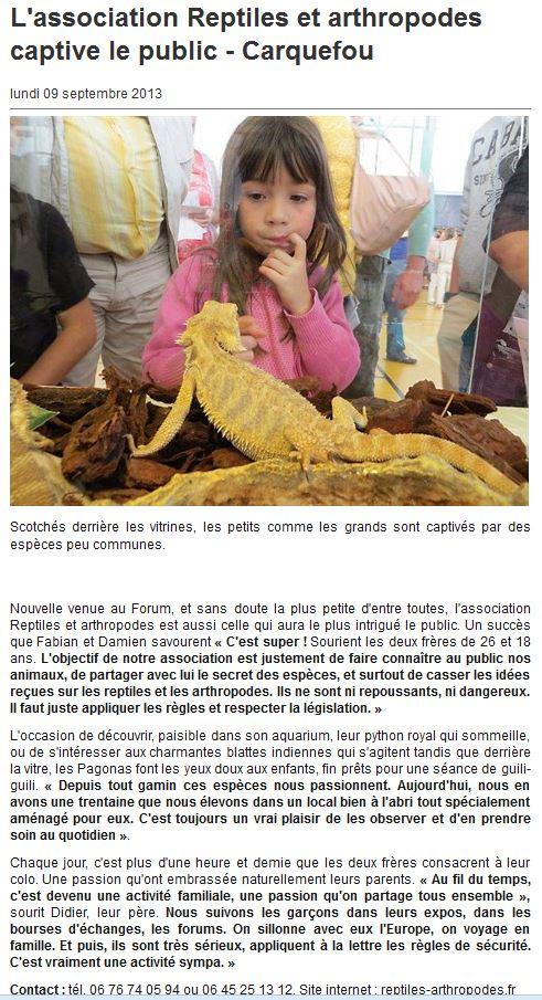 Exposition reptiles et arthropodes Carquefou Forum_10