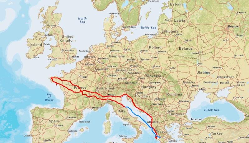 Carte Italie Grece Croatie.D La Grece Par L Italie Slovenie Croatie Montenegro