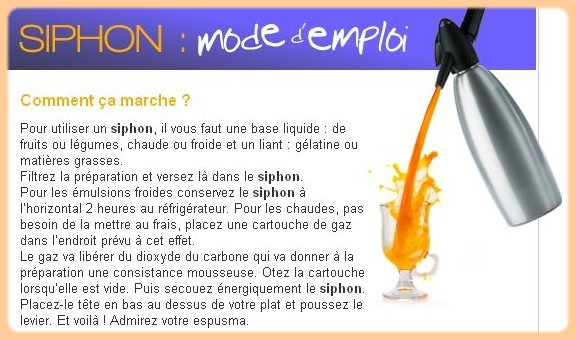 Siphon mode d'emploi A46