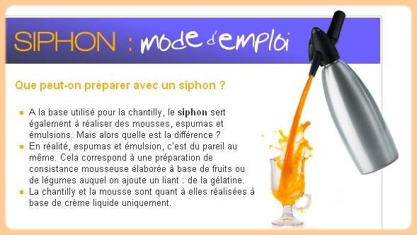 Siphon mode d'emploi C26
