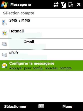 mail iphone - Paramétrage de l'option mail iphone SFR Screen21