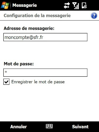 mail iphone - Paramétrage de l'option mail iphone SFR Screen22