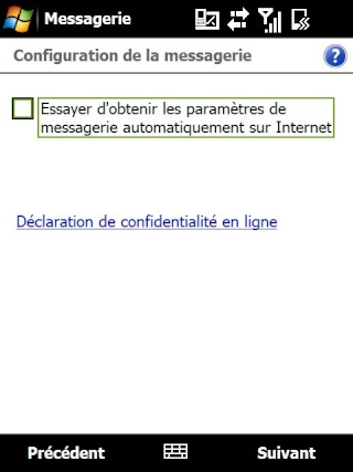 mail iphone - Paramétrage de l'option mail iphone SFR Screen23