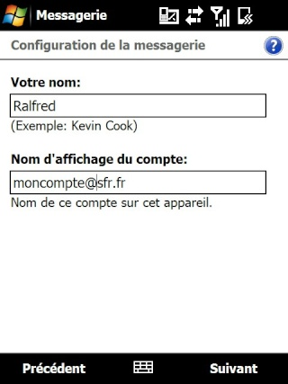 mail iphone - Paramétrage de l'option mail iphone SFR Screen26