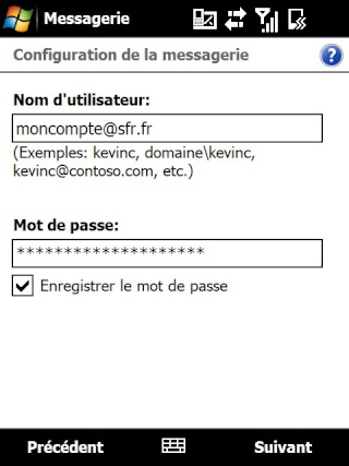 mail iphone - Paramétrage de l'option mail iphone SFR Screen28