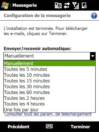 mail iphone - Paramétrage de l'option mail iphone SFR Screen30