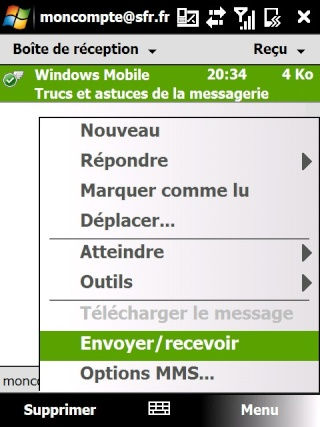 mail iphone - Paramétrage de l'option mail iphone SFR Screen32