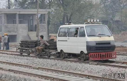Draisine / Wartungsfahrzeug in China 0310