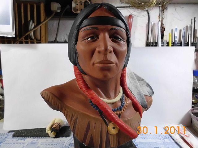 Indianerkopf - Keramikbüste ohne Maßstab 114