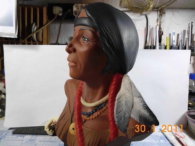 Indianerkopf - Keramikbüste ohne Maßstab 212