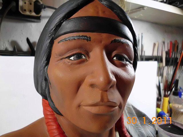 Indianerkopf - Keramikbüste ohne Maßstab 3a10