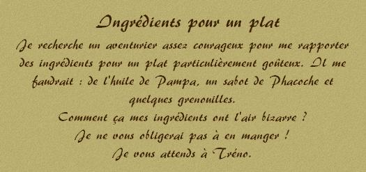 Ingrédients pour un plat Ingrad10
