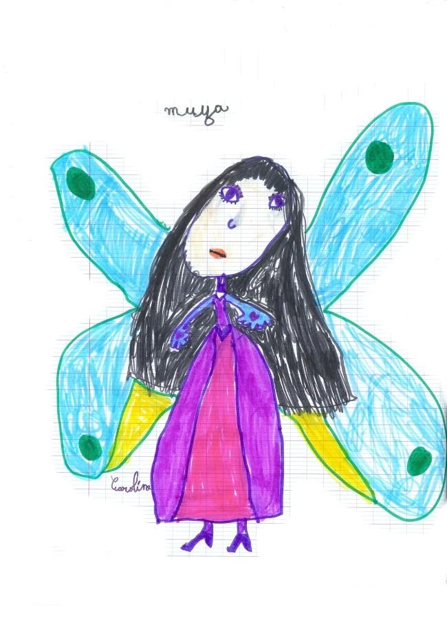 Muza, dessin de Licorne ailée/Caro. Muza_10