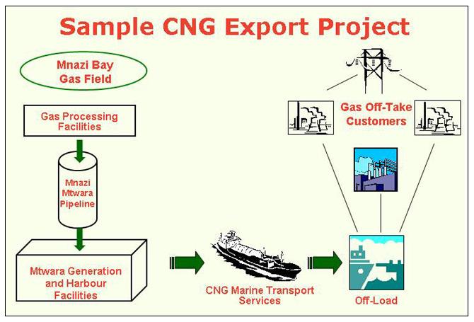 2 possibilités d'export de gaz Cng10