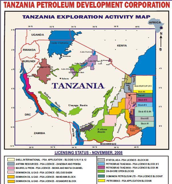 Site officiel de développement du pétrole en Tanzanie Tanzan10
