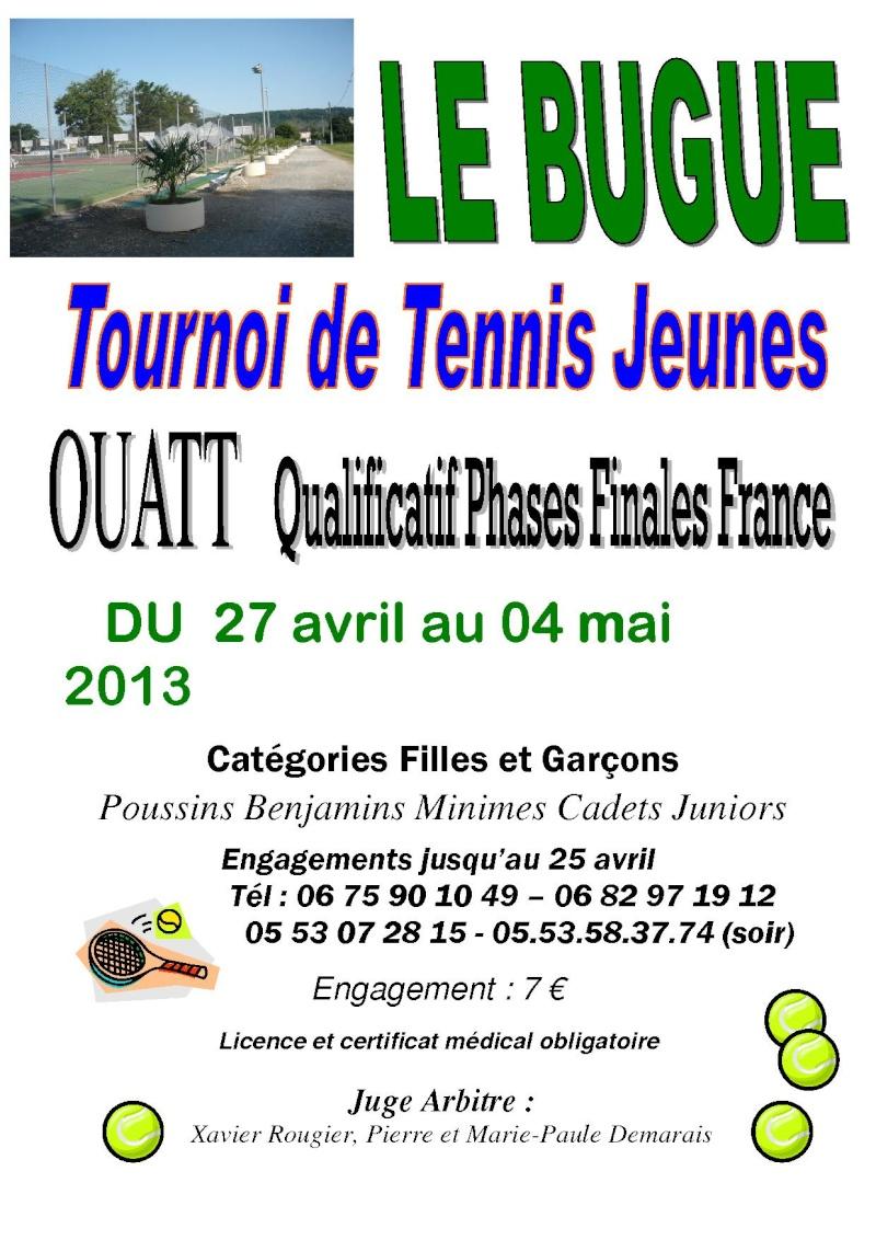 TOURNOI Jeunes - LE BUGUE Affich10