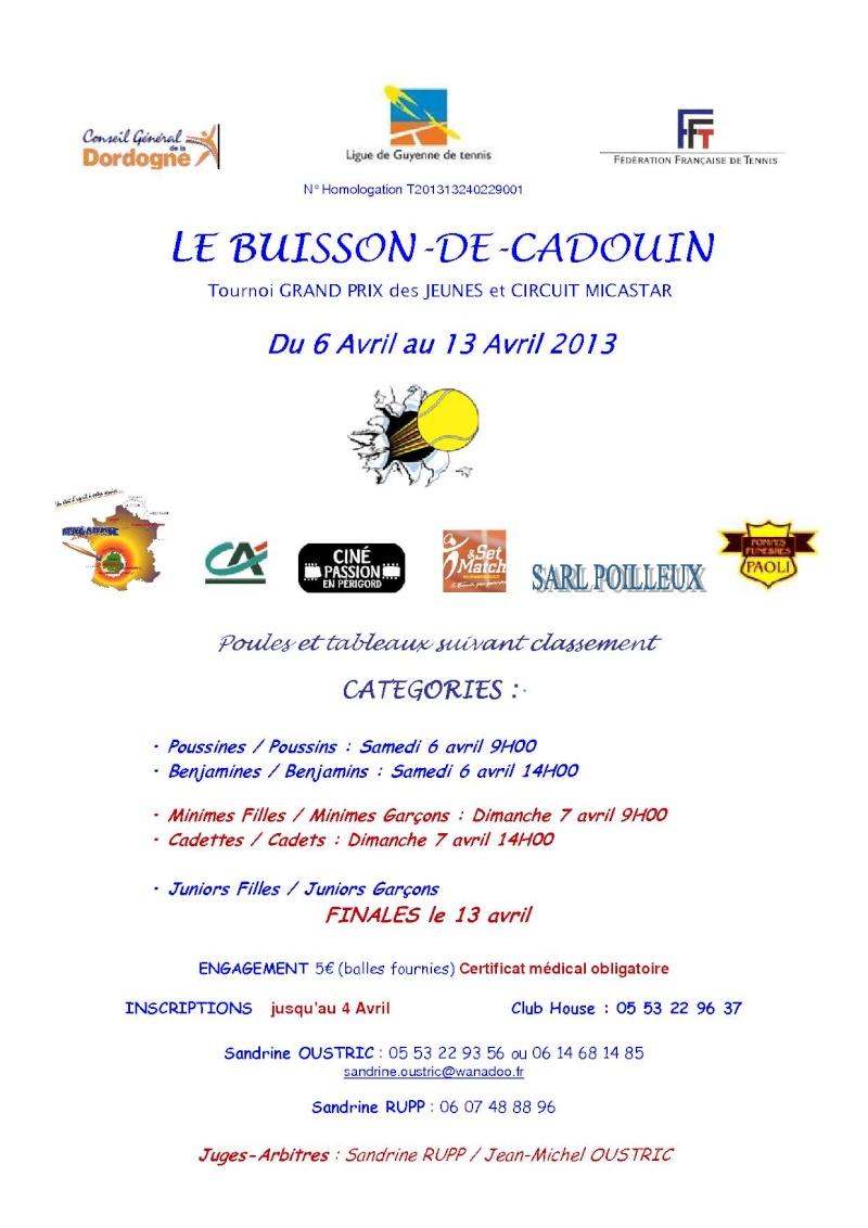 Tournoi GRAND PRIX des JEUNES et CIRCUIT MICASTAR - LE BUISSON DE CADOUIN Tourno10
