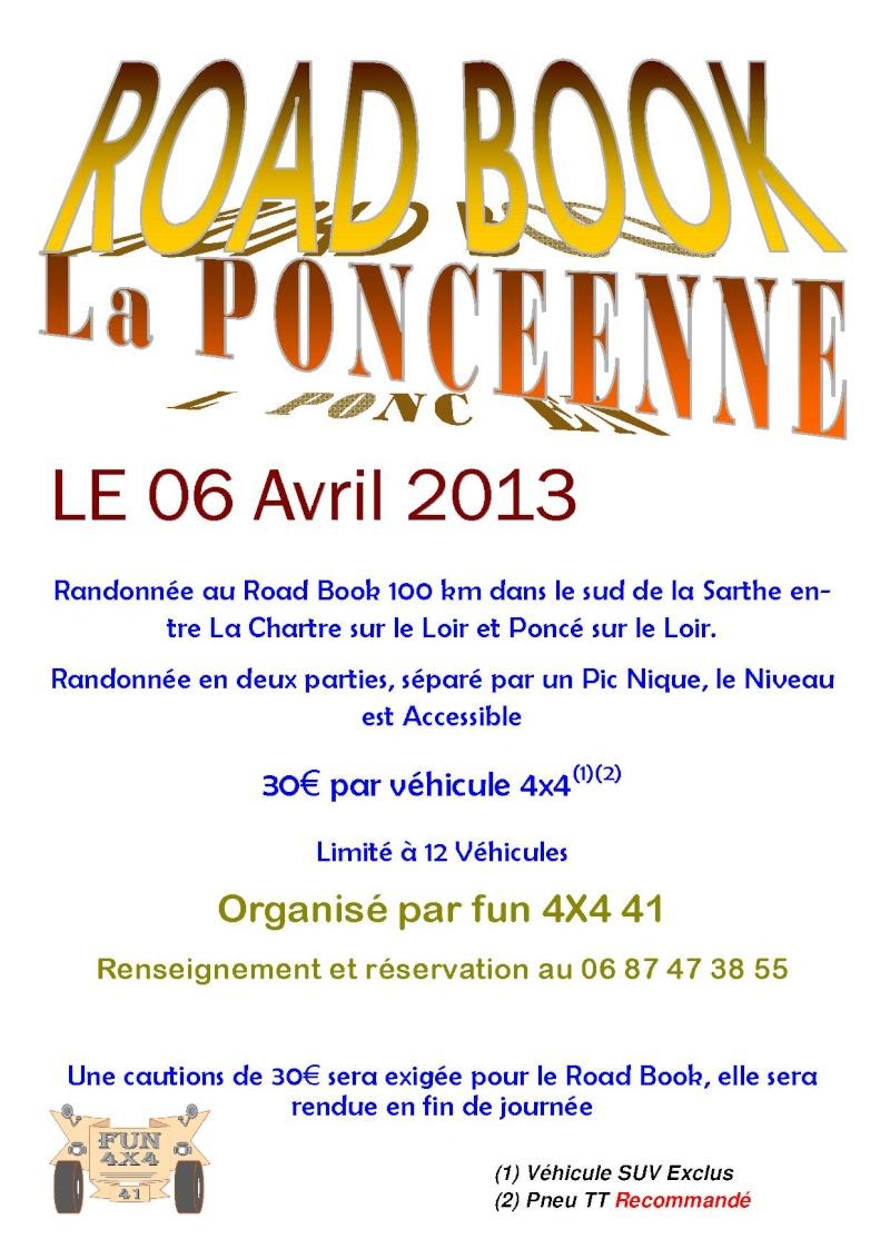 Road BOOK La Poncéenne Poncae10