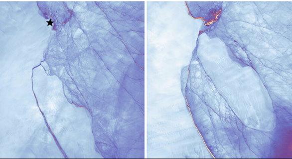 Une gigantesque crevasse en Antarctique accélère la fonte de la calotte polaire Larsen10