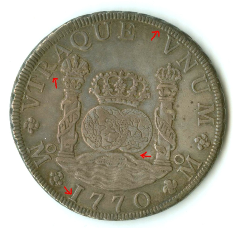Mexico 1770-MoMF 8 Reales with counterstamp real? Edited11