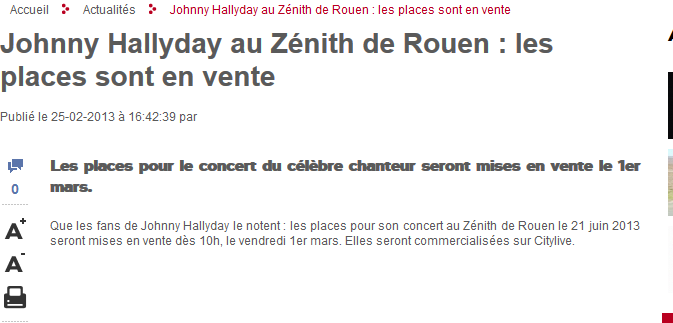 """Born Rocker Tour""  Tournée 2013 Captur19"