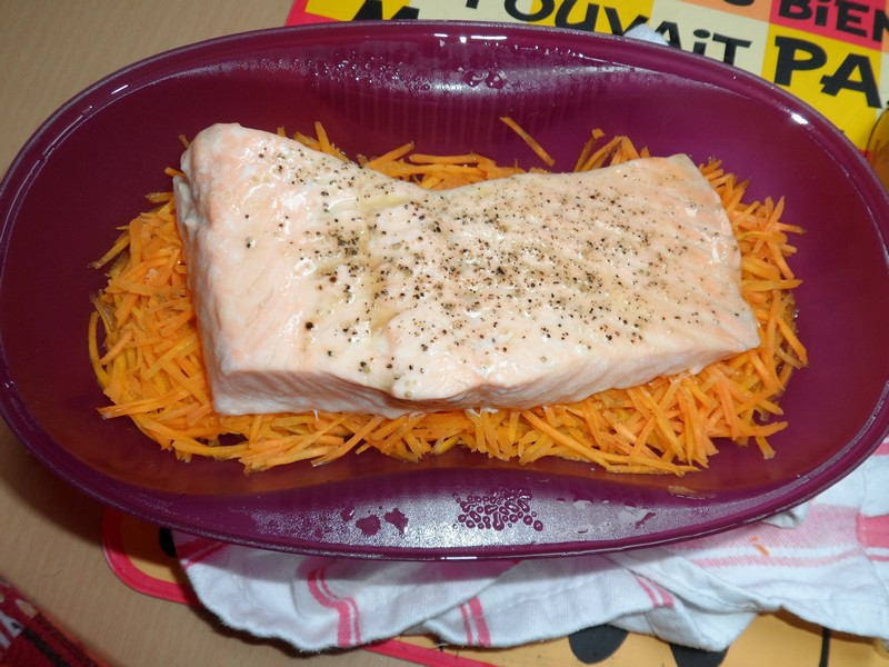 Saumon et carottes au cumin et à l'orange Sam_0811