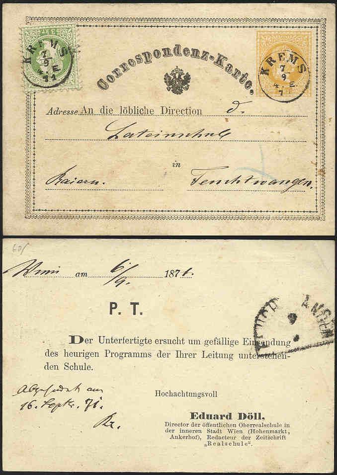 Freimarken-Ausgabe 1867 : Kopfbildnis Kaiser Franz Joseph I - Seite 2 1871_p11
