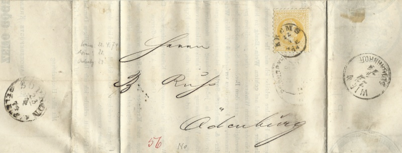 ungarn - Freimarken-Ausgabe 1867 : Kopfbildnis Kaiser Franz Joseph I 1874_d11
