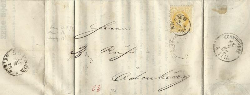 Nachtrag - Freimarken-Ausgabe 1867 : Kopfbildnis Kaiser Franz Joseph I 1874_d11