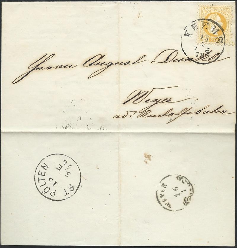 Nachtrag - Freimarken-Ausgabe 1867 : Kopfbildnis Kaiser Franz Joseph I 1878_d11