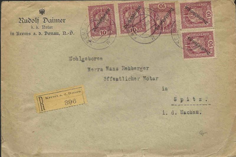 Inflation in Österreich - Belege - 1918 bis 1925 19190510
