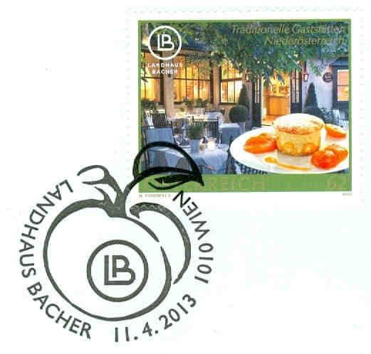 Neue Sondermarke Landhaus Bacher 11.4.2013 Bacher12