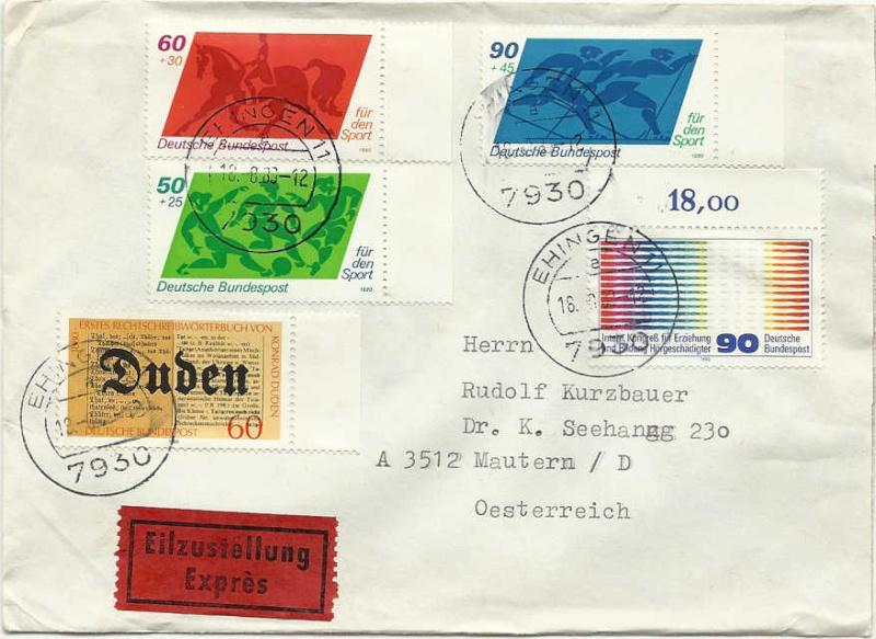Briefmarken Deutsche Sporthilfe Expres10