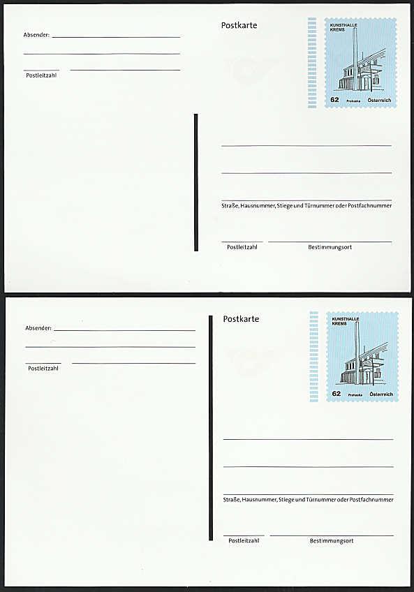 """Postkarte und Ganzsachenumschläge """"Kunsthäuser"""" Gs_pos10"""