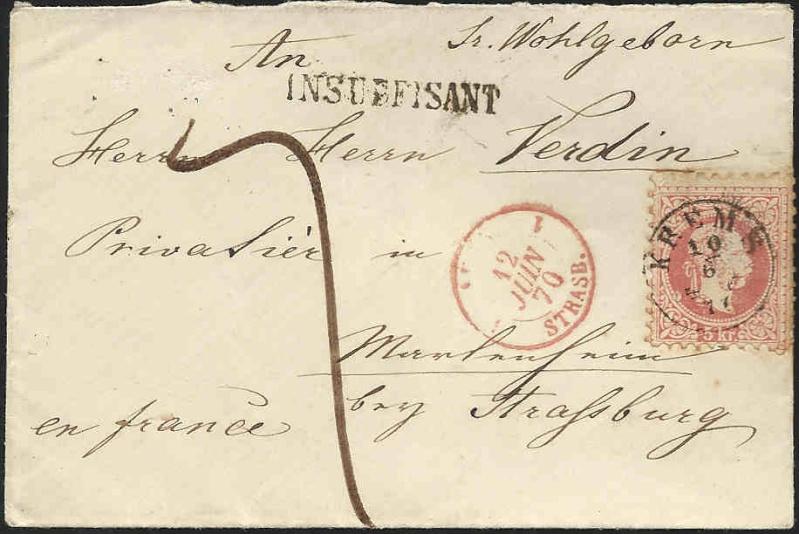 Nachtrag - Freimarken-Ausgabe 1867 : Kopfbildnis Kaiser Franz Joseph I Nachta10