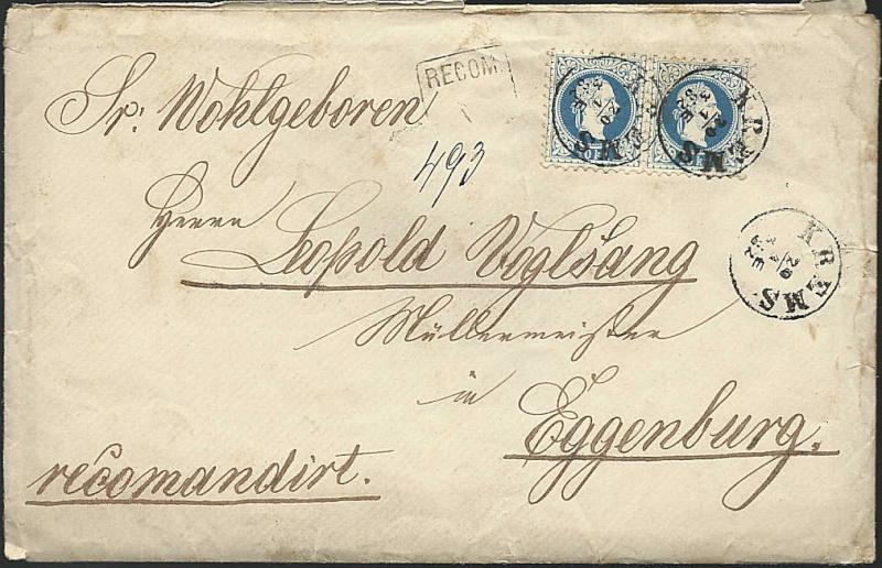 Freimarken-Ausgabe 1867 : Kopfbildnis Kaiser Franz Joseph I - Seite 2 Rekobr10