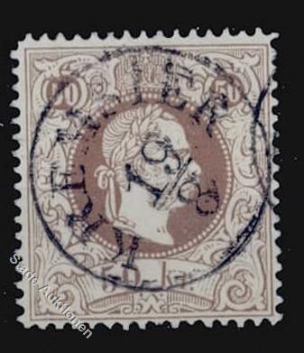 ungarn - Freimarken-Ausgabe 1867 : Kopfbildnis Kaiser Franz Joseph I Stempe10