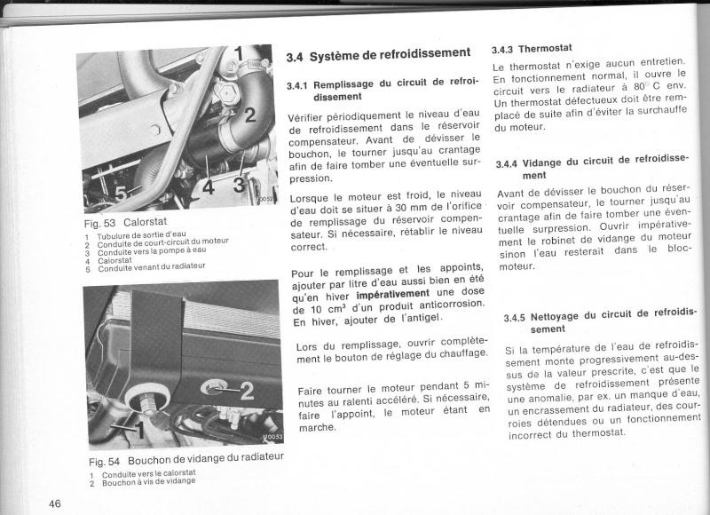 Vidange du circuit de refroidissement 421 moteur 616 Livret10